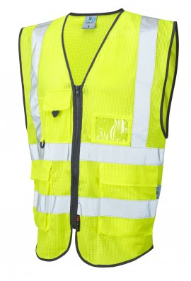 Leo Workwear W20-Y Coolvis Yellow Hi Vis Vest (Small To 6XL)