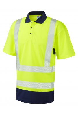 Leo Workwear P11-Y/NV Class Dual Colour Coolviz Plus Polo (Small To 6XL)