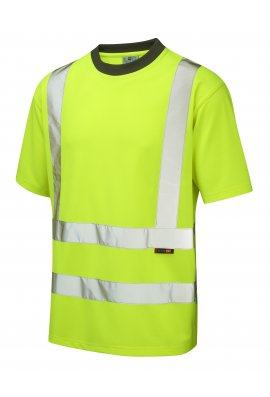 Leo Workwear T02-Y Class 2 Braunton CoolViz T-Shirt (Small To 6XL)