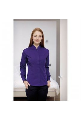 Kustom Kit KK261 Womens Mandarin Collar Fitted Shirt Long Sleeved  (Size 8 To 18)
