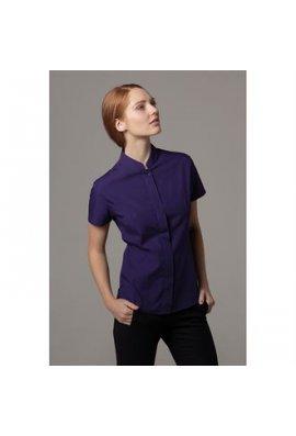 Kustom Kit KK260 Womens Mandarin Collar Fitted Shirt Short Sleeved (Size 8 To Size 18)