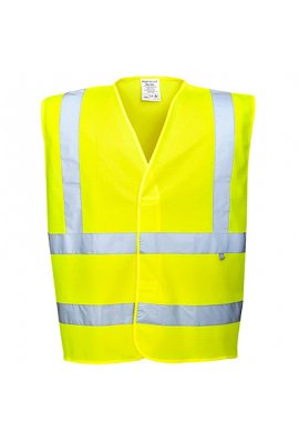 Portwest FR70 Flame Retardent Yellow Hi Vis Vests (Small To 5XL)