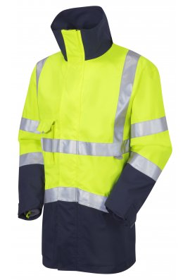 Leo Workwear A04-Y/NV Class 3 Breathable Executive Anorak Yellow & Navy (Small To 6XL)