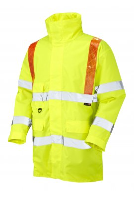 Leo Workwear A02-Y Putford Class 3 Orange Brace Anorak (Small To 6XL)
