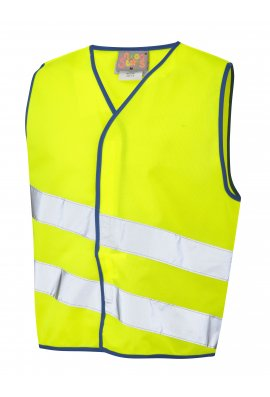 Leo Workwear CW01-Y NeonStars Childrens yellow vis vest (3/4 To 9/11)