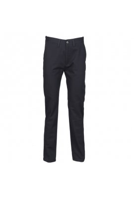 Henbury HB641 Womens 65/35 Flat Fronted Chino Trousers Navy