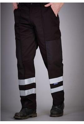 Yoko YK074BL Reflective Polycotton Ballistic Trousers Black