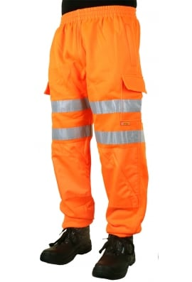 Beeswift BSJ Hiviz Sweat Jog Bottoms (Small To 4XL)