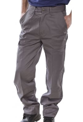 Beeswift PCT9G Click Grey Heavyweight 9oz Polycotton Work Wear Trouser