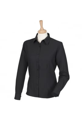Henbury HB591 Womens Wicked Anti-Bacterial Long Sleeved Shirt  (XS To 4XL)