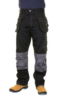 Beeswift KMPTBL Click Kington Black M/Pocket Trousers