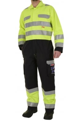 Beeswift CARC7 ARC Compliant Boiler Suit Yellow/Navy (Small To 4XL)