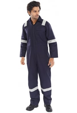 Click FREBSN Erskine FR/AS Boiler Suit - Navy (XSto6XL)