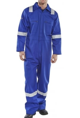 Click CFREBSR Erskine FR/AS Boiler Suit Royal (XSTO6XL)