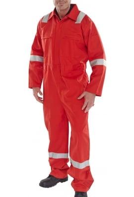 Click CFREBSRE Erskine FR/AS Boiler Suit Red (XSTo6XL)