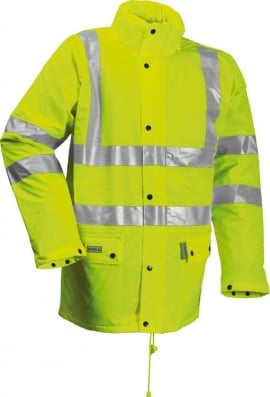 Be Seen Flame Retardant Hi Vis  Padded Coat Yellow (Small To 4XL)