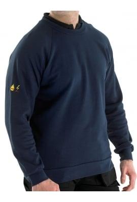 Beeswift Flame Retardent Anti Static Sweatshirt Navy (SmallTo5XL)