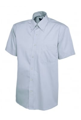 Uneek uc702 Mens Pinpoint Short Sleeved Oxford Shirt (Collar Size 14.5 To 19.5)