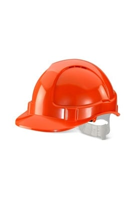 Click BBVSHOR Orange B-Brand Vented Safety Helmet (OneSize)