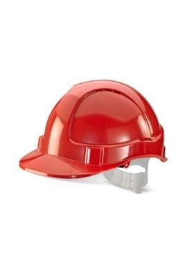 Click BBEVR Red B-Brand Economy Vented Safety Helmet (OneSize)