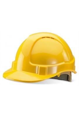 Click BBVSHRHY Yellow B-Brand Safety Helmet Ratchet HeadGear (OneSize)