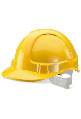 Click BBEVY Yellow B-Brand Economy Vented Safety Helmet (OneSize)
