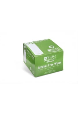 Click Medical Alcohol Free Wipes Pk100