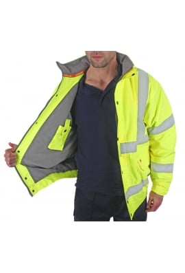 Be Seen Constructor Fleece Lined Bomber Jacket (Small to 6Xlarge)
