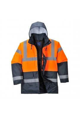 Portwest S467 Hi-Vis Two Tone Traffic Jacket (XSmall To 5XL)