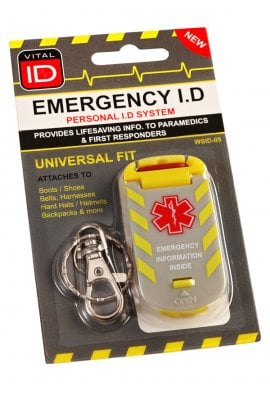 Beeswift Emergency ID Universal Fit Tag