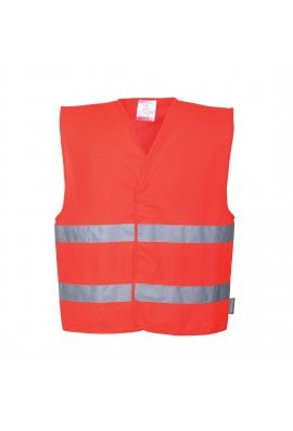 Portwest C474 Red Hi Vis Vests