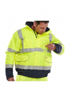 BD208 Hi Visibility Tone Bomber Jacket (Small To 6XL)