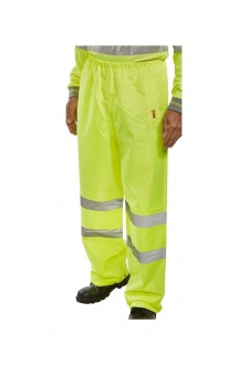 B DRY TEN  Hi Visibility Overtrousers (Small To 5XL)