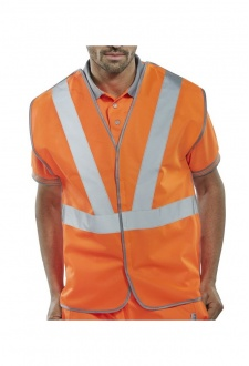 RSV02P Anti Tangle Rail Spec Hi Vis Vests (Medium To 6XL)