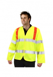 PKJENGRT Reflexite Hi Vis Long Sleeved Vests (Medium To 2XL)