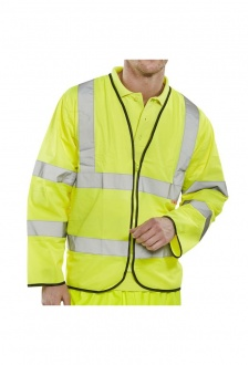 CFRPK Flame Retardent Zipped Hi Vis Long Sleeved Vests (Medium To 7XL)