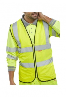 CFRWC Flame Retardent Vests Zip Fastening Hi Vis Vests (Medium To 4XL)
