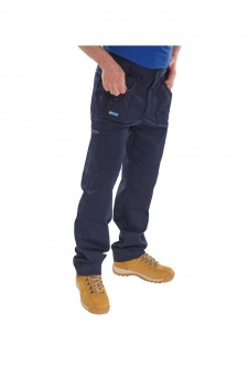 AWTN Click Navy Action Work Trouser Zipped Pockets