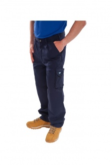 CTRANTN Navy Click Traders Newark Trousers