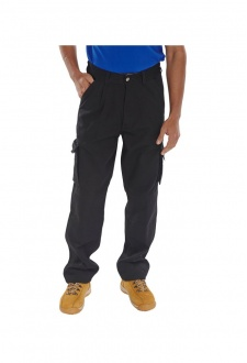 CTRANTBL Black Click Traders Newark Trousers