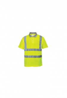 S177 Hi-Vis Yellow Comfort Polo Shirt  (Medium To 2XL)