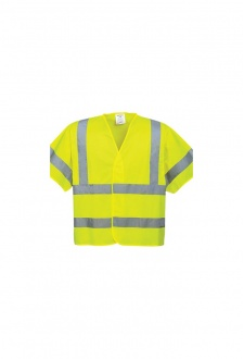 C471 Short Sleeved Hi Vis Vests (Small To 3XL)