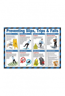 BSS13214 Safety Awareness Poster 'Preventing slips, Tips& Falls'