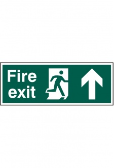 BSS12105 Fire Exit Man Up Sign PVC Version
