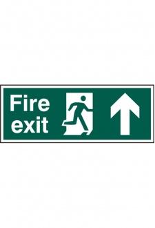 BSS12105 Fire Exit Man Up Sign PVC Version