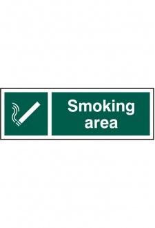 BSS11904 Smoking Area Sign PVC Version