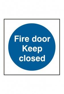 BSS11342 Fire Door Keep Closed Sign Vinyl Version