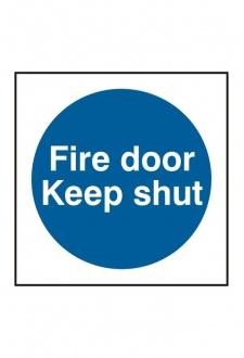 BSS11324 Fire Door Keep Shut Sign Vinyl Version