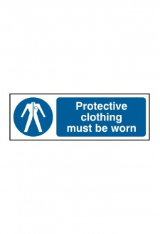 BSS11380 Protective Clothing Must Be Worn Sign Vinyl Version