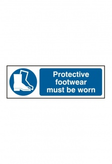 BSS11384 Protective Footwear Must Be Worn Sign Vinyl Version